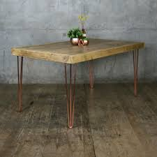 hairpin leg vintage industrial dining table 190 x 90cm mustard