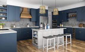 navy blue kitchen cabinet design navy blue shaker frameless kitchen cabinets