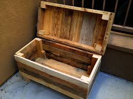 rustic chest rugged style handmade pallet wood chest bench with a