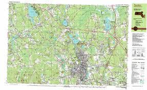 road map massachusetts usa taunton topographic map ma usgs topo 41071h1