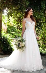 Boho Wedding Dresses Romantic Boho Wedding Dress With Lace Train Essense Of Australia