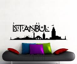 aliexpress com buy istanbul wall sticker turkey famous aliexpress com buy istanbul wall sticker turkey famous silhouette landscape word city vinyl decal home room interior decor art mural from reliable wall