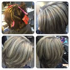 coloring gray hair with highlights hair highlights for image result for highlights blend gray haircuts pinterest