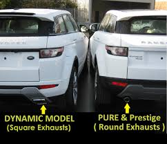 range rover evoque rear rear bumper lh insert panel for range rover evoque dynamic exhaust