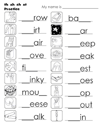 esl ch sh sound worksheets printable free download description