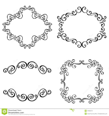 decorative ornamental frame for text stock vector image 34606579