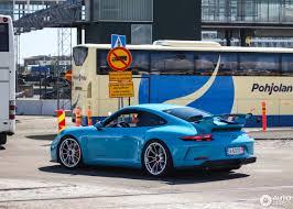 miami blue porsche gt3 rs porsche 991 gt3 mkii 26 liepos 2017 autogespot
