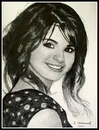 selena gomez pencil drawing by steven chateauneuf photo of