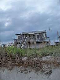 an abandoned beach house in oak island north carolina usa