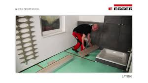 Laminate Flooring Bathrooms Egger Aqua Laminate Flooring Installation In Bathroom Youtube