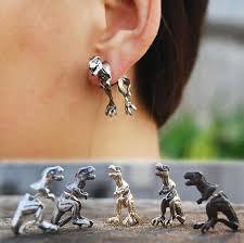 t rex earrings cool rock dinosaur ear cuff blue store
