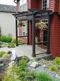 Outside Entryway Decor Best 25 Front Porch Pergola Ideas On Pinterest Pergola Ideas