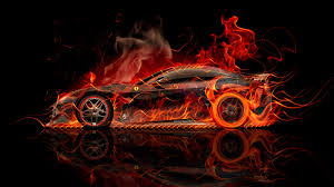 Ferrari F12 Orange - ferrari f12 berlinetta side super fire abstract car 2015 el tony
