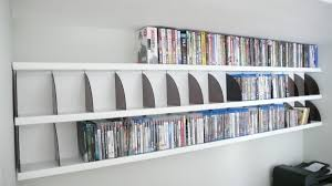 Dvd Bookcase Storage Details About Dvd Cd Storage Rack Wall Mounted Unit Retro Style