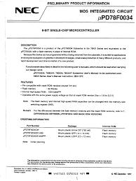 datasheet upd78f0034 8 bit single chip microcontroller 1 page