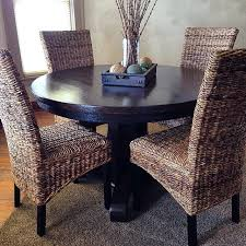 rattan kitchen furniture refinished oak dining table and rattan chairs dining room
