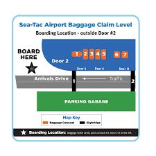 Seattle Airport Map Terminal by Boarding Locations Airporter Shuttle U2014 Airporter Shuttle Bellair