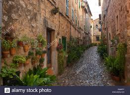 balearic islands majorca spain europe lane narrow houses homes