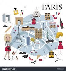 Map Of Paris France Paris Map With Famous Landmarks New Zone