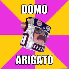 Domo Meme - list of synonyms and antonyms of the word arigato meme