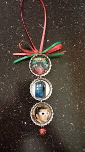 doctor who bottle cap christmas ornament great gift idea for dr