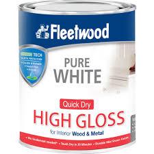 fleetwood high gloss brilliant white paint 750ml gloss