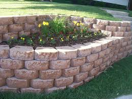Backyard Improvement Ideas by Simple Retaining Wall Ideas For Slope Best House Design