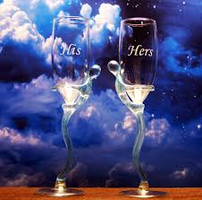 his hers wine glasses his n hers chagne glasses etchtalk glass etching projects