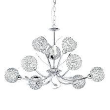 Chrome Pendant Light Fitting by 5579 9cc Bellis Ii Chrome 9 Light Fitting With Clear Glass