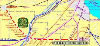 Aurora Map Old Plank Road Trail Northeast Illinois