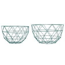 linea fruit bowl set grey modern wire frame fruit dishes