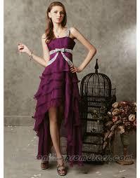 layer asym gothic grape straps unusual design prom dresses on sale