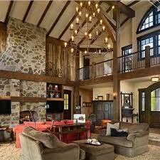 CountryRustic Country Dramatic Living  Family Room Photos - Country family room ideas