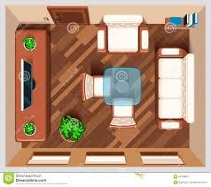 Wohnzimmerm El Verkaufen Wohnzimmer Mit Draufsicht Der Möbel Vektor Abbildung Bild 66139887