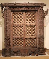 Wooden Door File Wooden Door Gujarat National Museum New Delhi Jpg