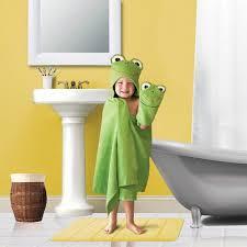 Walmart Kids Bathroom Kids U0027 Hooded Bath Towel And Wash Mit Set Walmart Com
