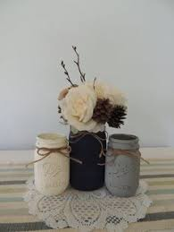 Mason Jar Vases Wedding Pint Mason Jars Ball Jars Painted Mason Jars Flower Vases