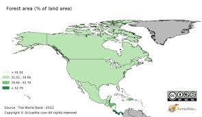 North America And Central America Map by North And Central America Forest Area Of Country By Country