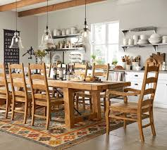 Pottery Barn Leather Dining Chair Rustic Kitchen Tables Pottery Barn Glamorous Dining Room Sets
