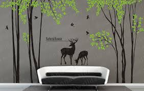 design inspiration nature bright and modern nature wall decor with bird decal design