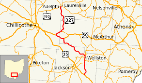 Athens Ohio Map by Ohio State Route 327 Wikipedia