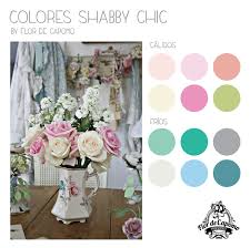 paleta de color shabby chic flor de capomo colores pinterest