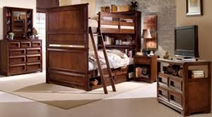 Bookcase Bunk Beds Previn Cherry Full Over Full Bookcase Bunk Beds Pertaining To
