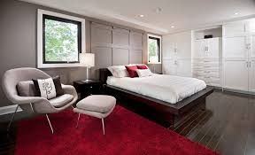 Red Rugs For Bedroom Bedroom Wall Molding Ideas Bedroom Contemporary With Red Rug