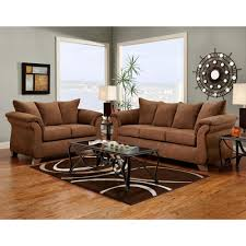 Leather Or Microfiber Sofa by Ash Brown Microfiber Sofa Set Pillow Top Arms Dcg Stores