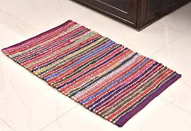 Rag Rugs For Kitchen Jute And Rag Rug 20 X 31 Inchs For Kitchen Bathroom Entry Way