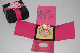 Box Birthday Cards The Crafty Touch Explosion Box Birthday Card With Tealight Candle