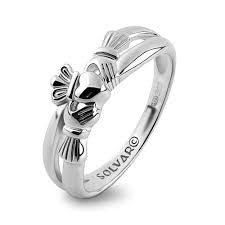 2 s ring claddagh ring s s2750 sterling silver made in ireland