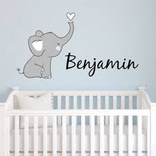 Fabric Wall Decals For Nursery Elephant Name Wall Decal Wall Decals Nursery And Walls