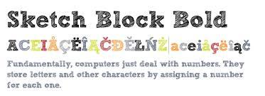 sketch block bold fonts com